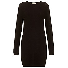 Buy Whistles Annie Sparkle Knitted Dress, Black Online at johnlewis.com