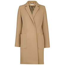 Buy Whistles Isla Minimal Overcoat, Camel Online at johnlewis.com
