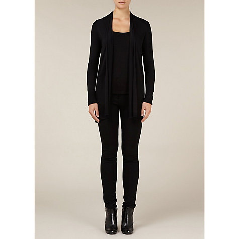 Buy Kaliko Ella Print Chiffon Back Cardigan, Black Online at johnlewis.com