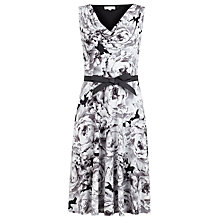 Buy Kaliko Large Rose Print Prom Dress, Black Online at johnlewis.com