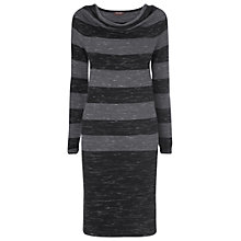 Buy Phase Eight Bailey Textured Striped Dress, Black Online at johnlewis.com