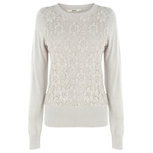 Buy Oasis Lace Front Top Online at johnlewis.com