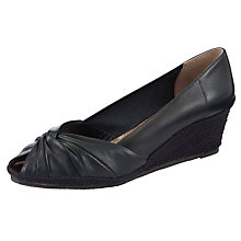 Buy John Lewis Muriel Wedge Court Shoes, Navy Online at johnlewis.com