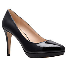 Buy Nine West Beautie Patent Court Shoes, Black Online at johnlewis.com