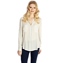 Buy Oasis Oversize Shirt, Multi Natural Online at johnlewis.com