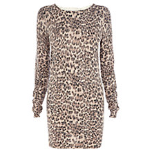 Buy Warehouse Zip Back Animal Dress, Multi Online at johnlewis.com