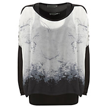 Buy Mint Velvet Halle Print Double Layer Top, Multi Online at johnlewis.com