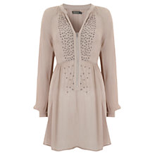 Buy Mint Velvet Babydoll Blouse, Neutral Vanilla Online at johnlewis.com