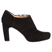 Buy Jigsaw Harrow Leather Shoe Boots, Black Online at johnlewis.com