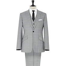 Buy Reiss Napolean 3-Piece Check Suit, Grey Online at johnlewis.com