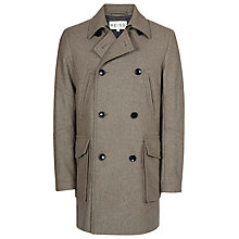 Buy Reiss Bentley Large Pocket Peacoat, Heather Online at johnlewis.com