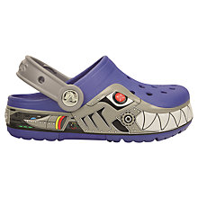 Buy Crocs Lights Robot Shark Sandals Online at johnlewis.com