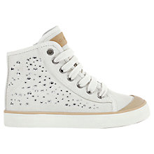 Buy Geox Ciak Diamante Hi-Top Canvas Trainers, White Online at johnlewis.com