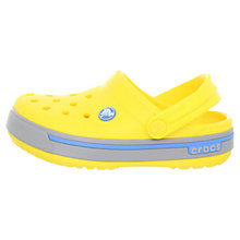 Buy Crocs Children's Crocband Clogs, Yellow Online at johnlewis.com