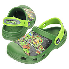 Buy Crocs Kids' Teenage Mutant Ninja Turtles Clog, Green Online at johnlewis.com