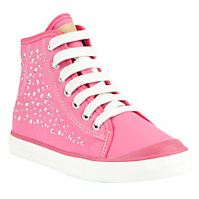 Buy Geox Ciak Diamante Hi-Top Canvas Trainers, Fuchsia Online at johnlewis.com