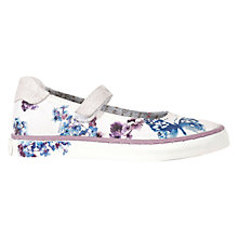 Buy Geox Kiwi Girl Butterfly Shoes, White/Blue Online at johnlewis.com