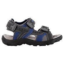 Buy Geox Childrens' Strada Rip-Tape Sandals, Navy/Charcoal Online at johnlewis.com