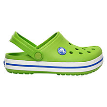 Buy Crocs Kids' Crocband Clogs, Green Online at johnlewis.com