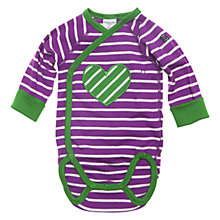 Buy Polarn O. Pyret Circus Stripe Heart Bodysuit, Acai Online at johnlewis.com