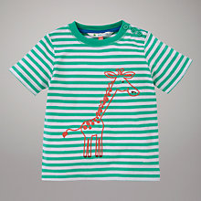 Buy John Lewis Stripe Giraffe T-Shirt, Green Online at johnlewis.com
