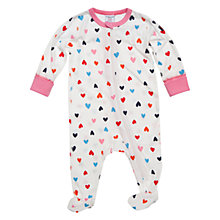 Buy Polarn O. Pyret Cincinnati Sleepsuit, White/Multi Online at johnlewis.com