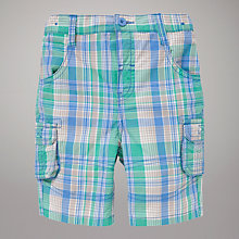 Buy John Lewis Check Poplin Shorts, Green/Blue Online at johnlewis.com