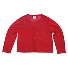 Buy Polarn O. Pyret Openwork Cardigan, Poppy Online at johnlewis.com