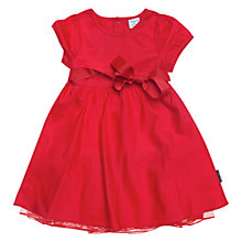 Buy Polarn O. Pyret Ribbon Tie Dress, Poppy Online at johnlewis.com
