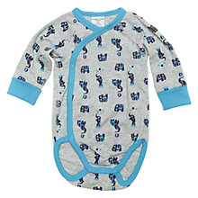 Buy Polarn O. Pyret Elephant Bodysuit, Grey/Blue Online at johnlewis.com