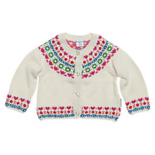 Buy Polarn O. Pyret Windermere Fair Isle Cardigan, Egg Shell Online at johnlewis.com