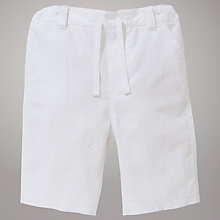 Buy John Lewis Linen Blend Shorts, White Online at johnlewis.com