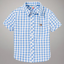 Buy John Lewis Check Short Sleeve Shirt, Blue/White Online at johnlewis.com