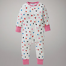 Buy Polarn O. Pyret Cincinnati Sleepsuit, White Online at johnlewis.com