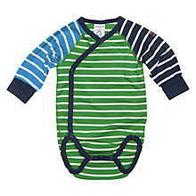 Buy Polarn O. Pyret Circus Stripe Bodysuit, Aloe/Multi Online at johnlewis.com