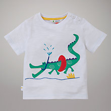 Buy John Lewis Beach Croc Motif T-Shirt, White Online at johnlewis.com
