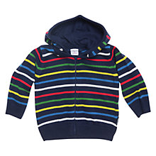 Buy Polarn O. Pyret Circus Stripe Hoodie, Indigo Online at johnlewis.com