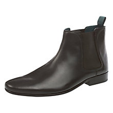 Buy Ted Baker Buurg Leather Chelsea Boots, Black Online at johnlewis.com