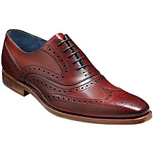 Buy Barker McClean Goodyear Welted Leather Brogues, Rosewood Calf Online at johnlewis.com