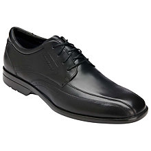 Buy Rockport Business Lite Bikerfront Leather Shoes, Black Online at johnlewis.com