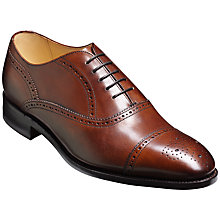 Buy Barker Newcastle Leather Oxfords, Walnut Online at johnlewis.com