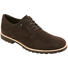 Buy Rockport Ledge Hill Suede Shoes, Dark Brown Online at johnlewis.com