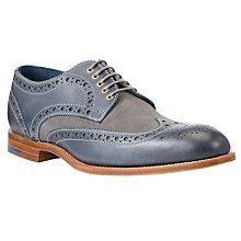 Buy Barker Thompson Handmade Leather Brogues, Navy/Grey Online at johnlewis.com
