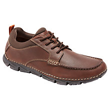 Buy Rockport Rocsports Lite 2 Moc Lace Up Shoes, Dark Brown Online at johnlewis.com