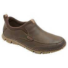Buy Rockport Rocsports Lite 2 Moc Slip On Shoes, Chocolate Online at johnlewis.com