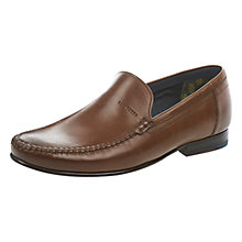 Buy Ted Baker Simeen Round Toe Loafers, Brown Online at johnlewis.com