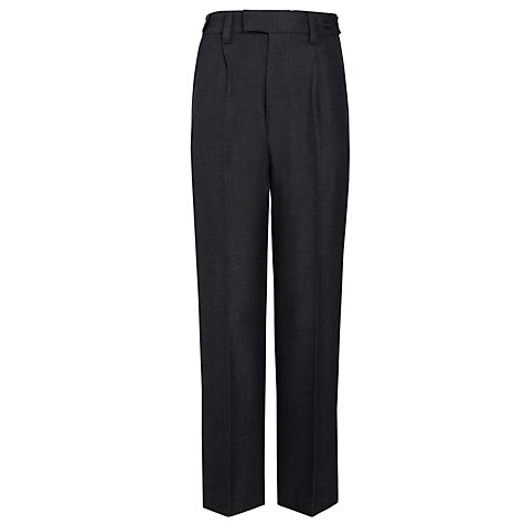 Buy John Lewis Boys' Polywool School Trousers, Charcoal Online at johnlewis.com