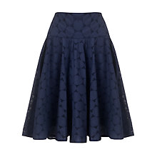 Buy John Lewis Capsule Collection Shiffley Full Skirt, Navy Online at johnlewis.com
