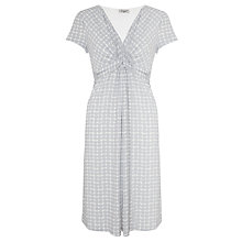 Buy John Lewis Capsule Collection Print Jersey Dress, Pale Grey/White Online at johnlewis.com