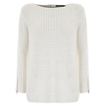 Buy Mint Velvet Zip Back Boxy Knitted Jumper Online at johnlewis.com